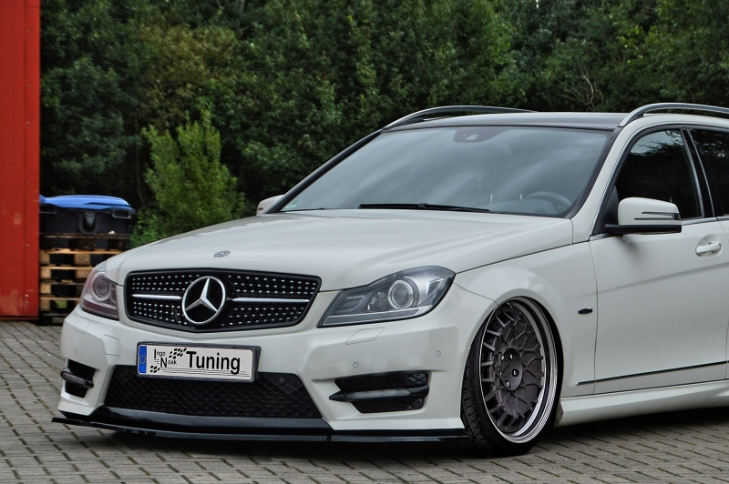 cup frontspoilerlippe abs mercedes benz c klasse w204 amg. Black Bedroom Furniture Sets. Home Design Ideas