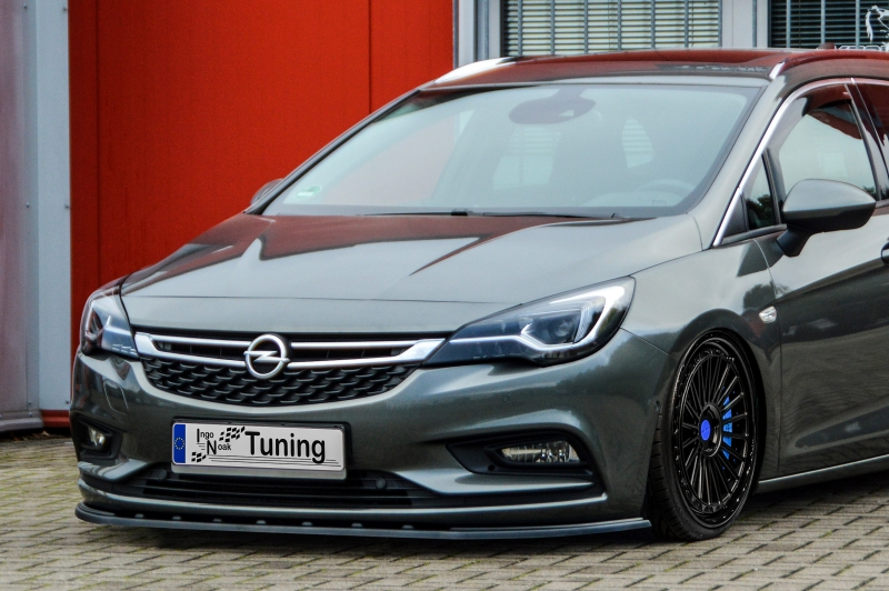 CUP Seitenschweller aus ABS für Opel Astra K Sports Tourer Schwarz Glanz